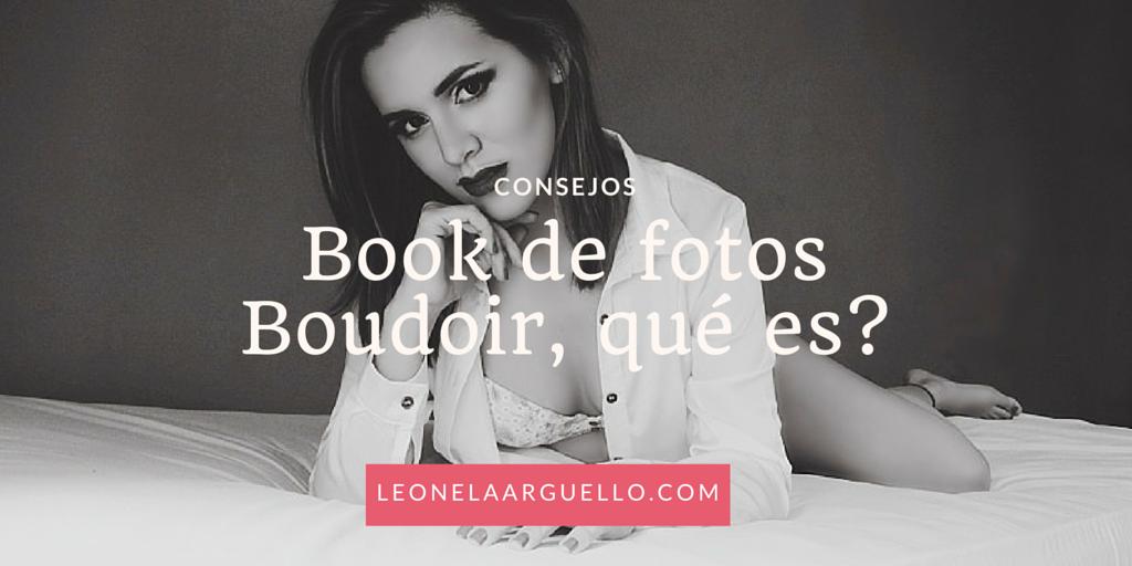 Book de fotos boudoir, ¿qué es?