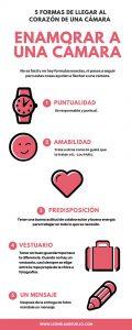 infografia 5 formas de llegar al corazon de una camara