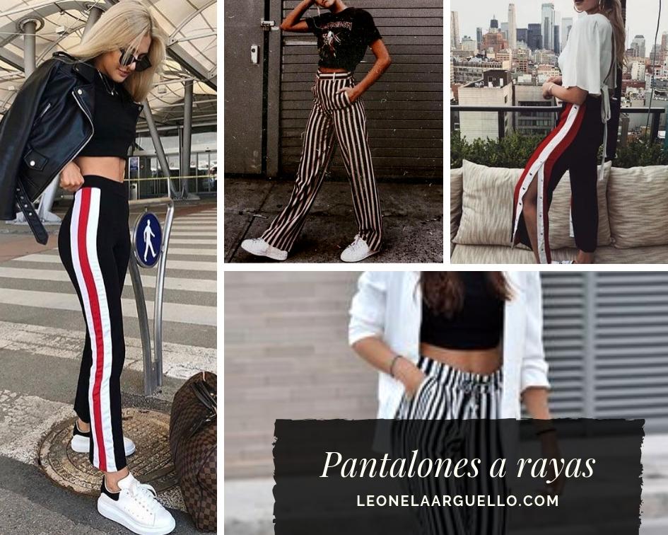 Moda pantalones a rayas