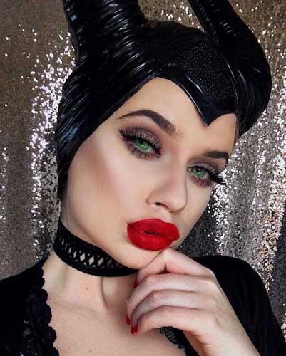 malefica maquillaje ideas para Halloween