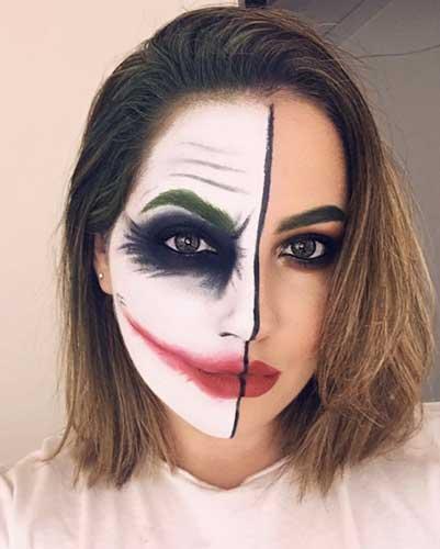 maquillaje halloween guason para mujer