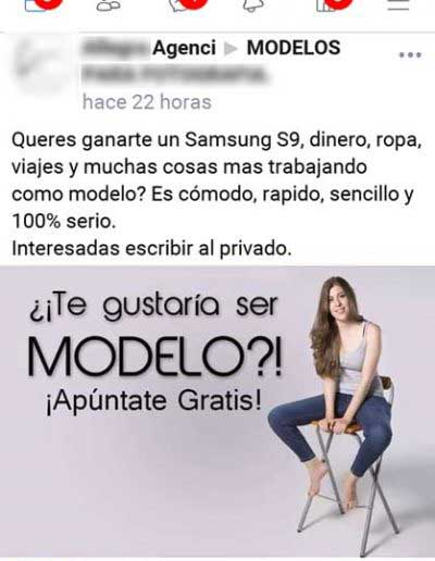 agencia de modelo falsa