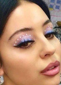 maquillaje piedras estilo pinterest