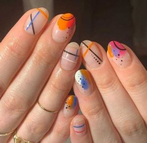 nail art geometrico moda 2020
