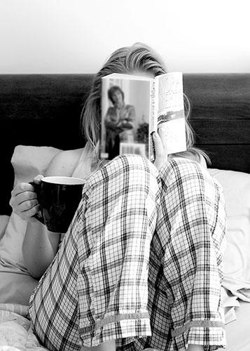 idea para una foto de mujer en la cama